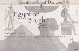 Egyptian Brush Set by Cheshire-Angel