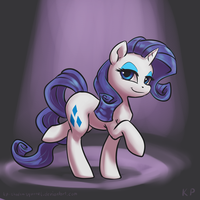 Speedpaint 04 - Rarity by KP-ShadowSquirrel