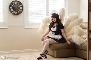French Maid Ahri - Blondiee by BlondieeGaming