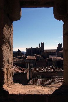 rooftops as seen from castle. by TuNages