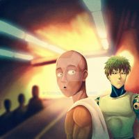 One Punch Man Wait huh by yado-king