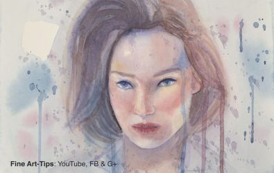 How to Paint a Woman's Face in Watercolor by ArtistLeonardo