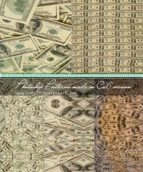 Dollars Photoshop Patterns by Coby17