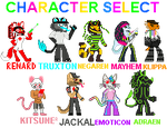 Lapfox Character Select by Aneiryndae
