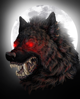 You Gonna Die (A Werewolf Painting) by AvengingCoconut