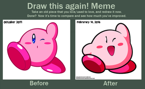 Kirby's Before and After by JamesmanTheRegenold