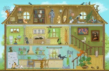 The cats' house by MisterLuca