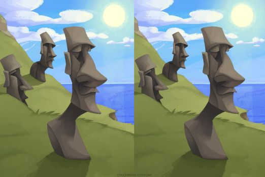 Easter Island 3D by WonderDookie