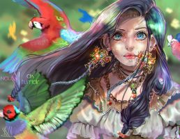 Flying Colours +  SPEEDPAINT  by Naussi