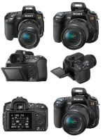 The Sony DSLR A-350 angles by Evolved-Monkey