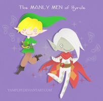 The MANLY MEN of Hyrule by YamPuff