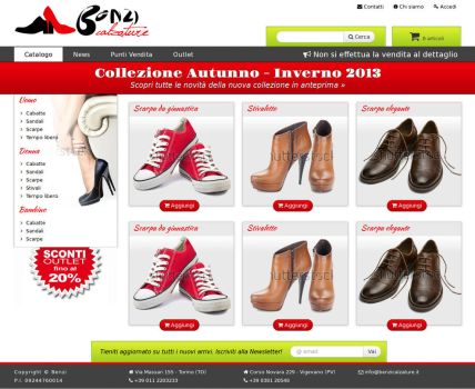 Site preview - shoes e-commerce 1 by Kanuka76