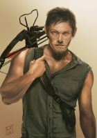 Daryl Dixon - The Walking Dead by LornaKelleherArt