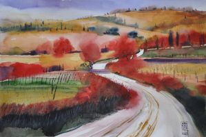 Toscana by andreuccettiart