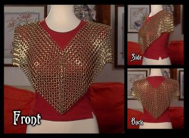 Chainmaile Brass Poncho by crazed-fangirl