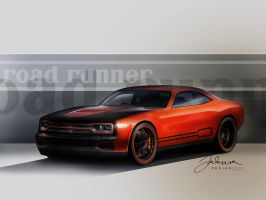 Plymouth Road Runner sketch by Jakusa1