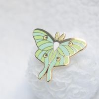 Luna Moth Enamel Pin by aristlotl