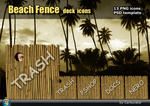 BeachFence dock icons by Carburator