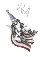 Sketch - APH _State of Freedom by LuCiFelLo