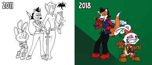 Team GEM WIP- Then and Now by PlummyPress