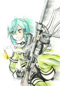Sinon (Sword art online) by PocketKaori