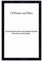 Of Beasts and Men - Title Page by RearmedDreamer