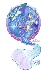 Glaceon Mermaid by Flying-Fox
