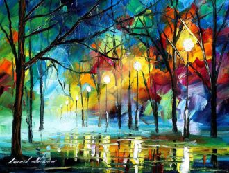 Blue Reflection by Leonid Afremov by Leonidafremov