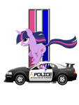 Shirt design- Mustang Twilight Sparkle (Unicorn) by GoneIn10Seconds