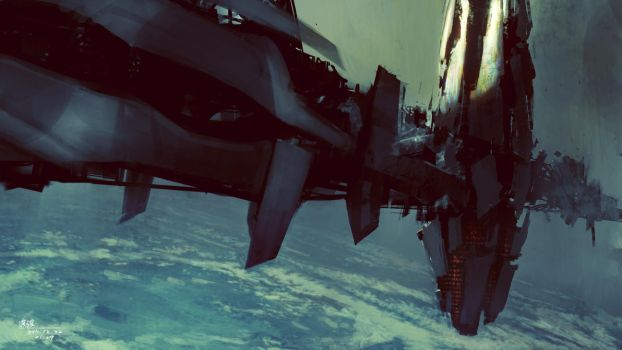 Space Station by 93114011