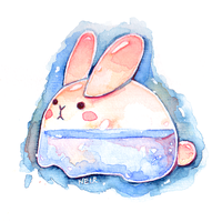 Watercolour 11.01.17 - Glass Bunny by N2Y88