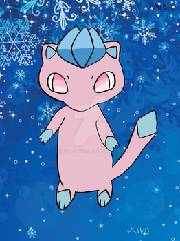 Mew and Glaceon fusion by UnovaLover