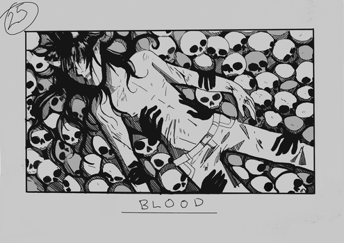 Day 25 - Blood by Inui-Purrl