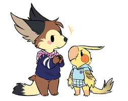 Miss Bean and Baby Nuggle by ThatWildMary