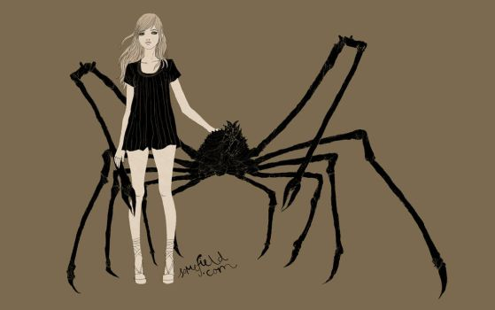 girl with japanese spider crab by somefield