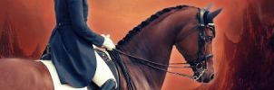 Red Dressage Banner by ElysianEquine