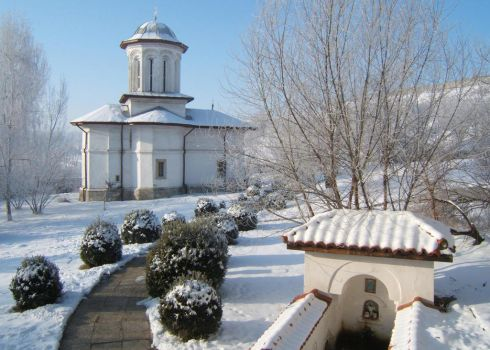 Brancoveni Monastery Winter by andyy008