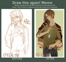 Draw This Again meme by Redveemone