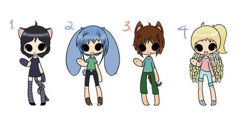 :D Batch of little adopts~ One open!!~ by DiscoCake