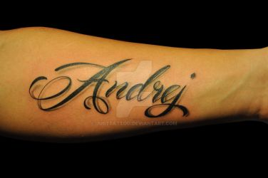 Letter tattoo by justTattoo