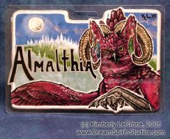 Almalthia Conbadge Commission by Dreamspirit