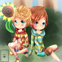 Lucas and Claus by xXPaintedDreamXx