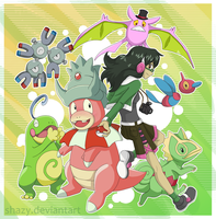 Pink Green Poketeam by shazy