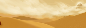 Journey Dual-Screen Wallpaper (3840x1080) by Nonexistent-One