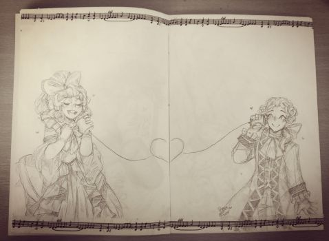 Ayyy, I posted some traditional art by Drawing-Heart