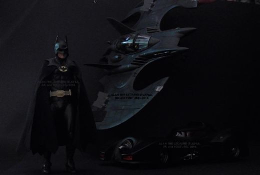 The (Bat)man and his awesome personal vehicles. by Alan-the-leopard
