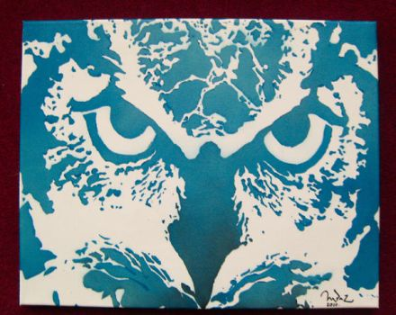 owl stencil by rossiexd