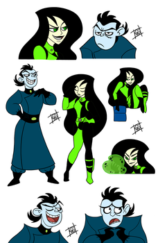 Dr.Drakken And Shego by ChibiCorporation