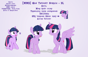 [MMD] MLP - New Twilight Sparkle + DL by Sparkiss-Pony