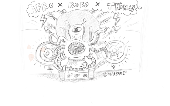 AFROxROBOxTHINGY by marcake